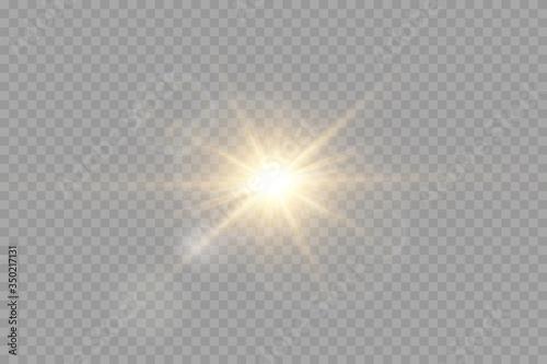 Fototapety, obrazy: Vector transparent sunlight special lens flare light effect.