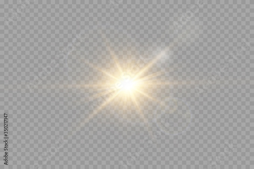 Fototapety, obrazy: Vector transparent sunlight special lens flash light effect.front sun lens flash. Vector blur in the light of radiance.