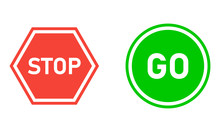 Stop And Go Vector Sign, Safet...