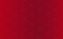 Seamless Decorative Red Pattern On A Maroon Background With A Soft Transition From Light To Darker Cherry. Beautiful Monochrome Ornament. Design Of The Website. Print, Cover.
