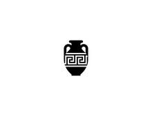 Amphora Vector Flat Icon. Isol...