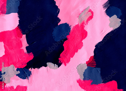 abstract acryl painted background Canvas Print