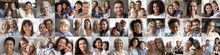 Collage Mosaic Of Many Happy M...