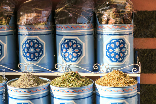 spices in the market in india, photo as background Wallpaper Mural
