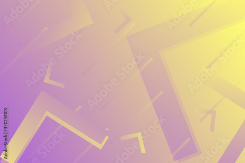 Simple angular abstract background with purple and yellow gradients Canvas Print