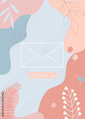 Fototapety, obrazy: Vector abstract background design with place for text.  For social media promotional content, invitation, greeting card, mailing, banner, poster, advertisement of travel agency, decoration.