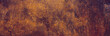 canvas print picture - Panoramic grunge rusted metal texture. Rusty corrosion and oxidized plate. Worn metallic iron background.