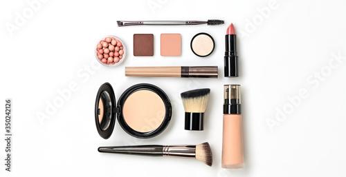 Beauty cosmetic makeup background Fototapeta