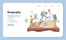 Geography Web Banner Or Landin...