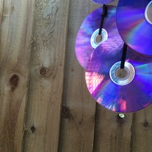 Compact Discs Handing By Wooden Wall