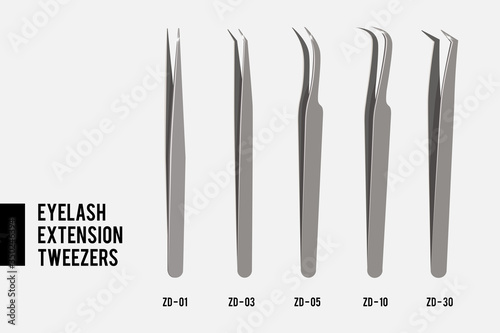 Fotografía Tweezers for Eyelash extension