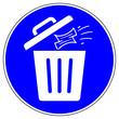 Leinwanddruck Bild - shas629 SignHealthAndSafety shas - Entsorgen Sie gebrauchte Papiertaschentücher in einem verschlossenen Abfallbehälter. - english - dispose of used paper tissues in a sealed waste bin. - hygiene g9643