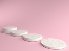 3D Render Of Abstract Pink Com...