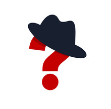 Incognito Vector Concept Question Mark With Hat Like A Spy, Criminal Hiding His Person, Against Law Illegal Man, Unidentified Person.