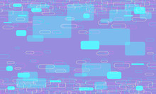 Abstract Modern Lilac Background With Rounded Rectangles