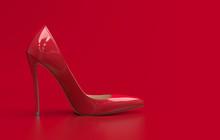 Single Red Women's High-heel...