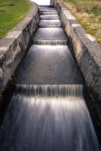 Spillway, Loch Humphrey. Kilpatrick Hills, Dunbartonshire, Scotland