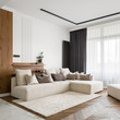 canvas print picture - Elegant and bright living room