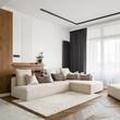 Leinwandbild Motiv Elegant and bright living room
