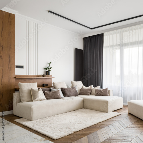 Obraz Elegant and bright living room - fototapety do salonu