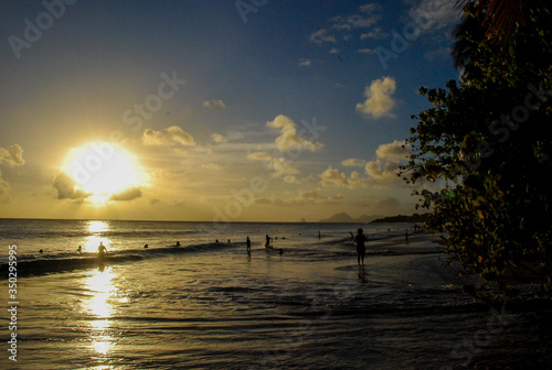 Fototapety, obrazy: Scenic View Of Sea Against Sky At Sunset