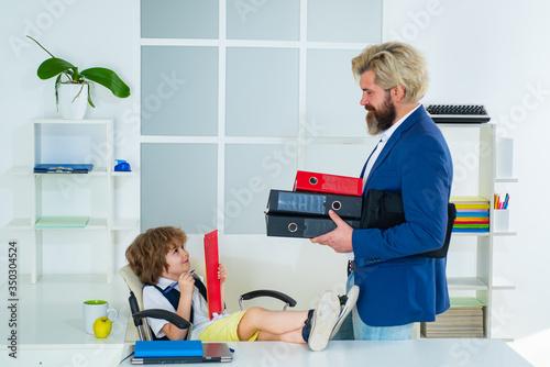 Obraz na plátně Boss and employee
