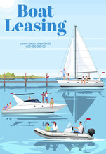 Boat Leasing Poster Template. ...