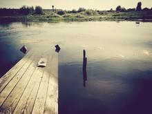 Broken Pier At Lake