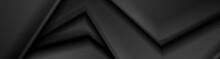 Black Smooth Curved Stripes Ab...