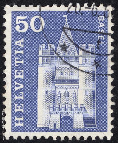 Obraz na plátne Postage stamps of the Helvetia