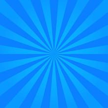 Blue Burst Background In Retro...