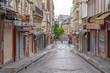 Paris, France - 05 09 2020: Montmartre district. Steinkerque Street during confinement against coronavirus