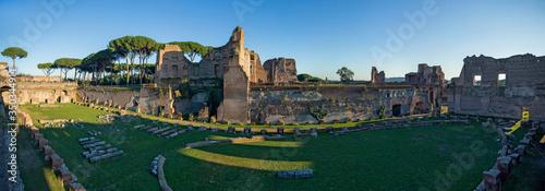 Fotografie, Obraz Stadium of Domitian ruins at Palatin hill in Rome, Italy