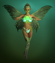 The Green Light Fairy, 3d CG
