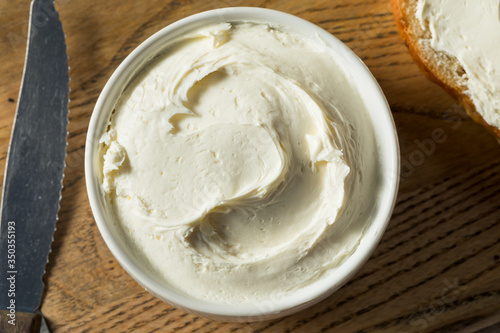 Fototapeta Homemade Creamy Cream Cheese obraz