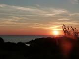Fototapeta Na ścianę - Silhouette Trees By Sea Against Sky During Sunset
