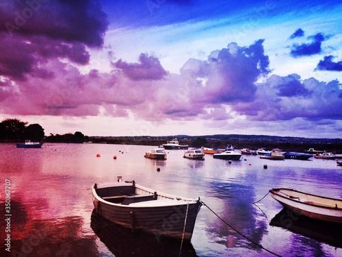 Fishing Boats At Sunset Fototapet
