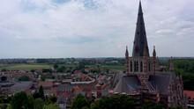 Aerial View Of Basilica And Dadizele Panorama, Belgium