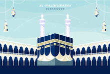 Kaaba Landscape Flat Design Ba...