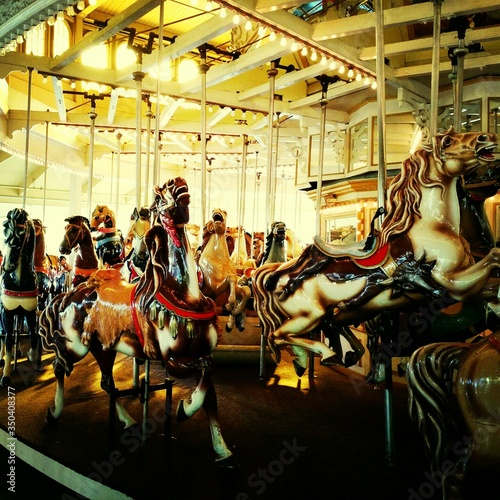 View Of Merry-go-round Canvas-taulu