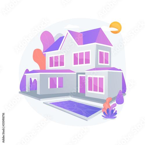 Fényképezés Private residence abstract concept vector illustration