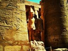 Statues In Ancient Egyptian Temple