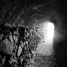 Stone Wall In Tunnel
