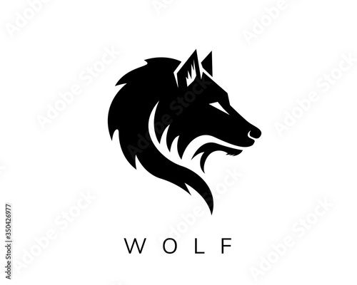 Naklejki wilk  wild-head-wolf-fierce-face-logo-design-inspiration