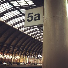 Low Angle View Of Roof At York Railway Station