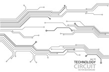 Abstract Futuristic Circuit Bo...