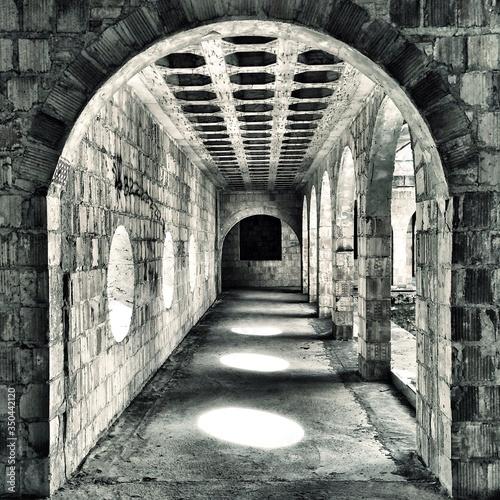 Fototapeta Archway Of Abandoned Building