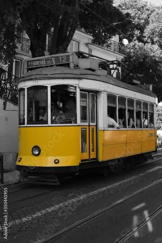Fototapeta Yellow Cable Car obraz na płótnie