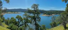 Panorama Of  Lake Folsom From Darrington Trail California