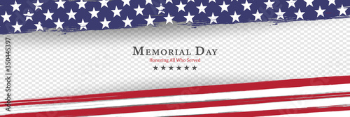 Fototapeta Memorial Day background vector illustration - honoring all who served obraz